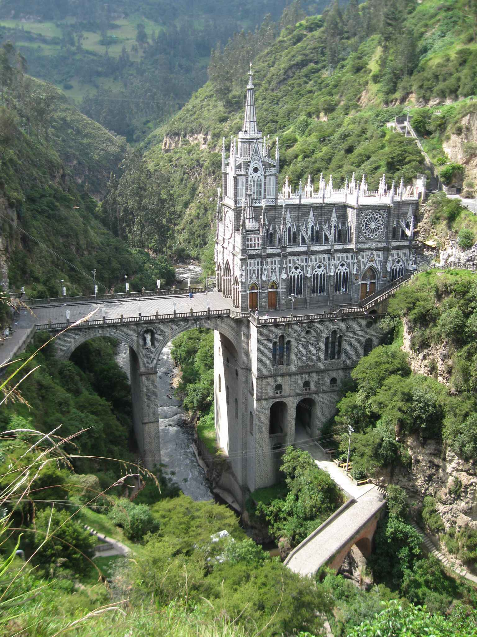 Las Lajas Sanctuary - Most Beautiful Churches in the World