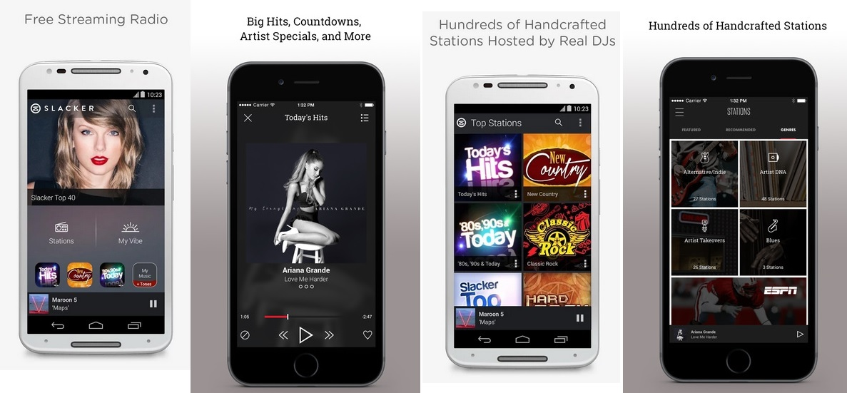 Slacker Radio - Best Music Streaming Apps for Android and iOS Power Users to Stream Music Online