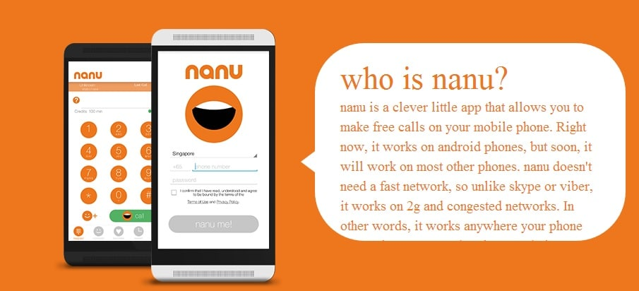 Make Free Calls to Any Mobile or Landline Users Even in 2G With Nanu Free Android App Minutes
