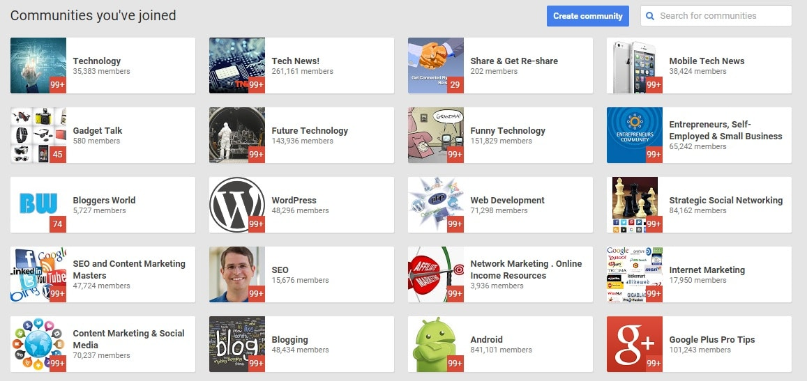 Use Google Plus and Google+ communities to get more quality targeted visitors