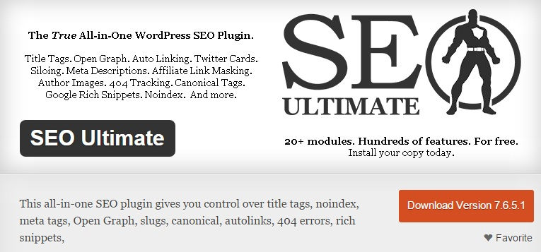 SEO Ultimate - True All-in-one SEO plugin for WordPress