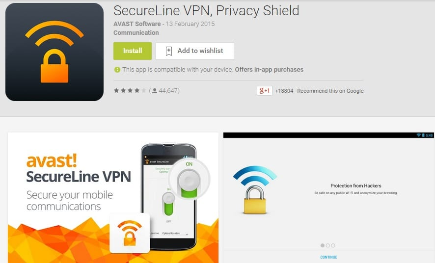 Secureline VPN Privacy Shield - Free VPN Proxy App for Android