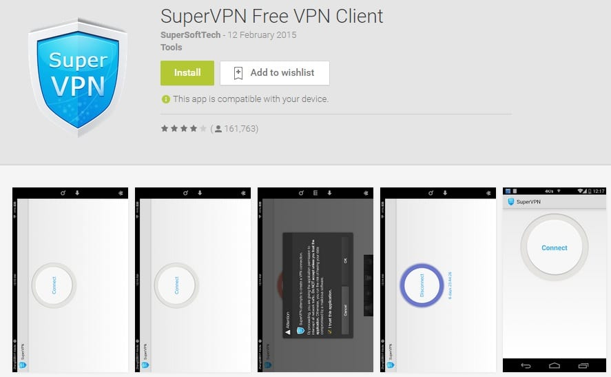 Super VPN Free VPN Client for Android Apps