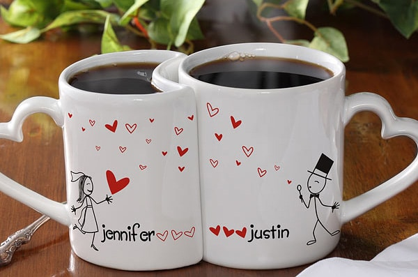 Personalized Love Mug Set to Gift Valentine's Day Couple Gift Ideas