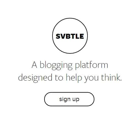 Svbtle - Free Blogging Platform Designed to Help You Build Top Blog Sites