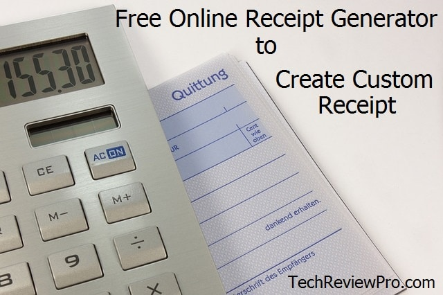 Top Free Online Receipt Generators And Invoice Makers To Create Custom  Receipt  Create Receipts Free