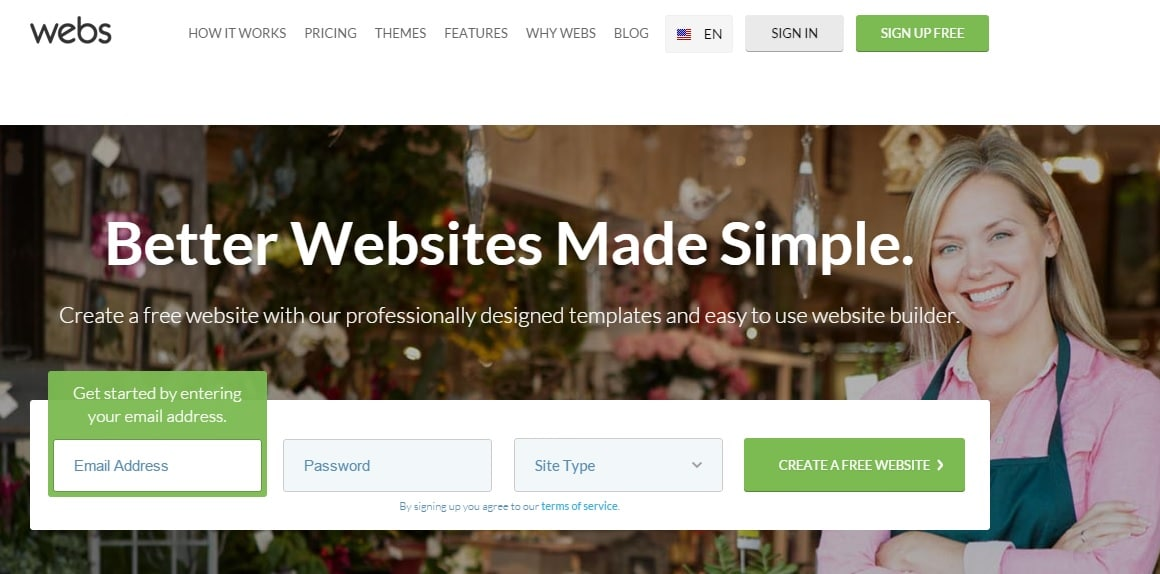 Webs - Free Website Builder to Make a Free Website and Hosting