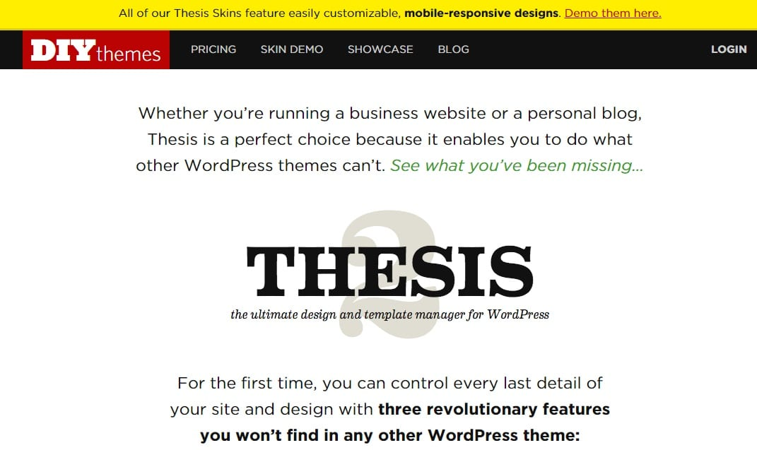 reviews thesis theme Now, as i mentioned the thesis options have been tweaked slightly, but the site just looks a bit unfinished or messy with the journal theme installedcould this be remedied and made to look amazing with the journal as the theme.
