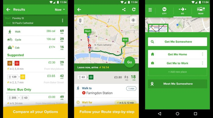 Citymapper-Get real-time public Transit updates - Best Free Holiday Apps to Take with You on Your Holidays