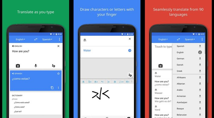 Google Translate- Translate up to 90 languages - Best Free Holiday Apps to Take with You on Your Holidays