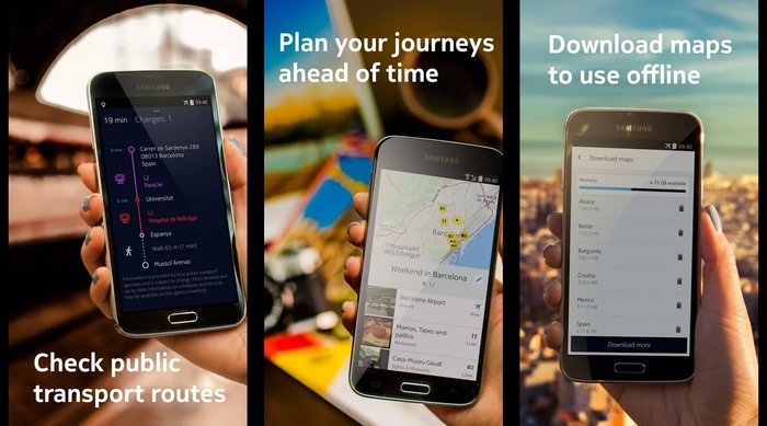 HERE Maps- Best App For Offline Navigation - Best Free Holiday Apps to Take with You on Your Holidays