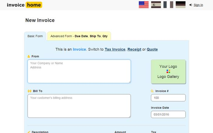9 Best Online Invoice Creator To Generate Free Invoice Online: build your own home calculator