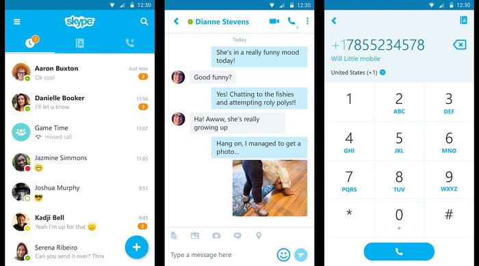 Skype- Call from any where - Best Free Holiday Apps to Take with You on Your Holidays
