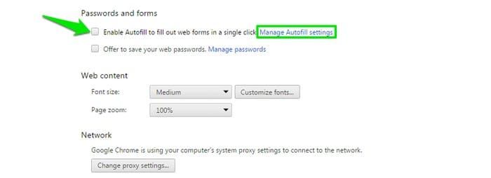 Disable-Autofill-in-Browser-Uncheck-Autofill - How to Clear Autofill: How to Delete Autofill in Chrome & other Browsers?
