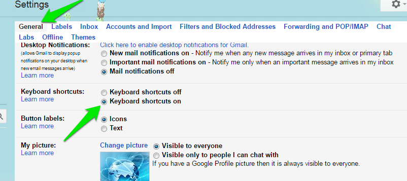 Gmail-Keyboard-Shortcuts-Enable-Shortcuts - Gmail Keyboard Shortcuts to Be More Productive