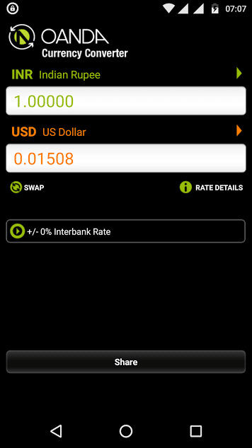 OANDA currency converter app for Android - free currency converter app - best Android currency app - currency exchange app