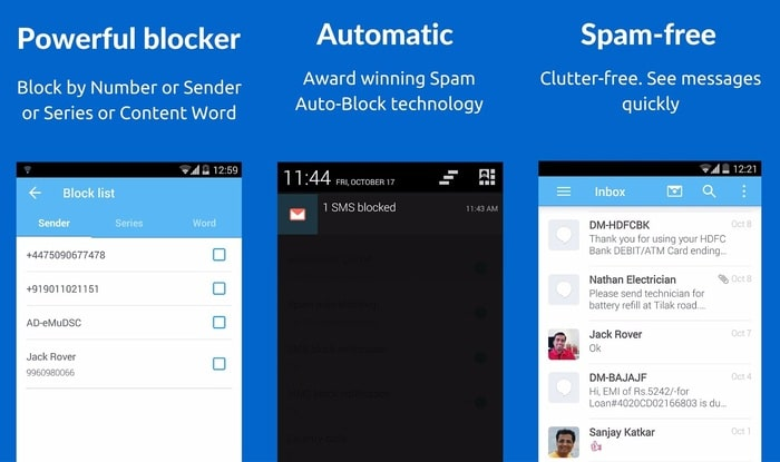 SMS Blocker Android App- Best Free Call Blocker Apps to Block all unwanted SMS on Android