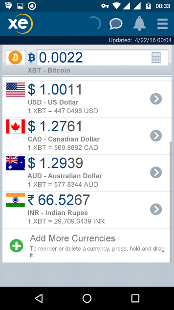 currency converter for phone - xe currency converter for Android - currency exchange app