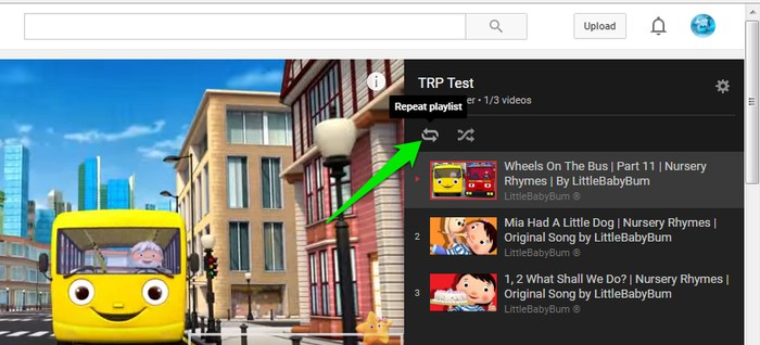 Repeat YouTube Videos-repeat-playlist - How to Repeat YouTube Videos? - 3 Methods to Repeat YouTube Videos