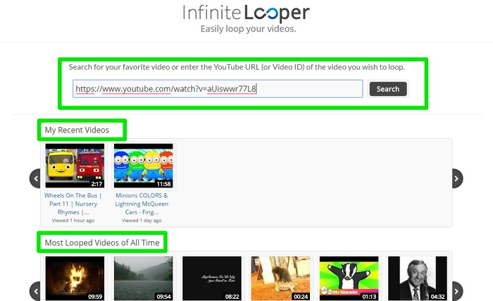 Repeat YouTube Videos-infinitelooper-interface - How to Repeat YouTube Videos? - 3 Methods to Repeat YouTube Videos