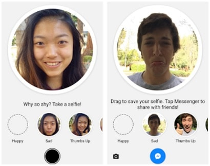 how to get face changer on messenger
