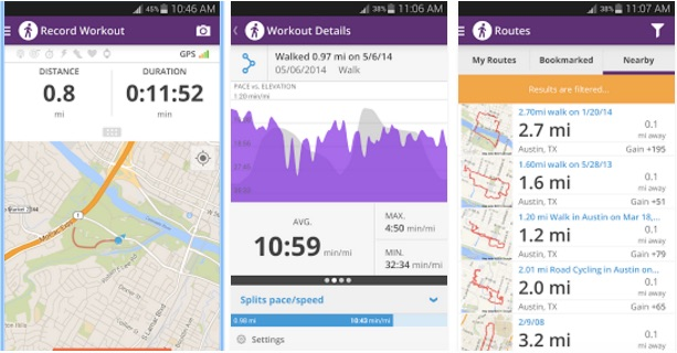 Top 7 Best Pedometer Apps for Android to Count Your Steps Daily Map My Walk Free on map of az, map destiny, how far did i walk,