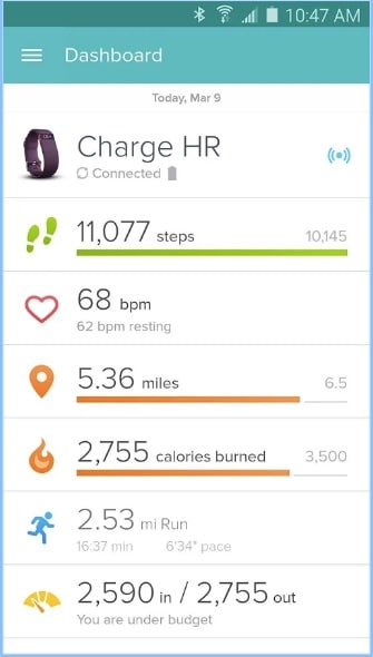 Fitbit - Best Pedometer Apps for Android - Free Step Counter App for Android - Android Fitness Tracking App