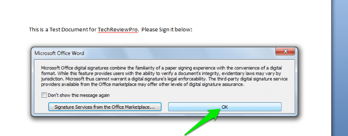 How to Sign a Word Document Digitally - Electronic Signature in Word - How to Create Digital Signature in Word