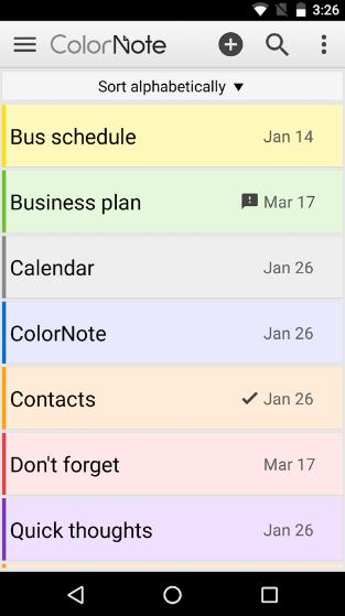 color note - note taking app for android - Best Note Taking App for Android - Best Android Note Taking Apps
