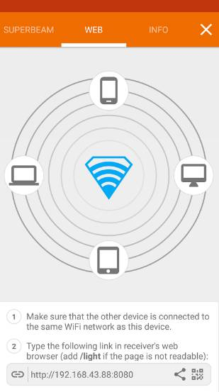 SuperBeam - WiFi Transfer - Best File Sharing App for Android - Best Android File Transfer App for Easy File Transfer - Transfer Files from Android to Mac