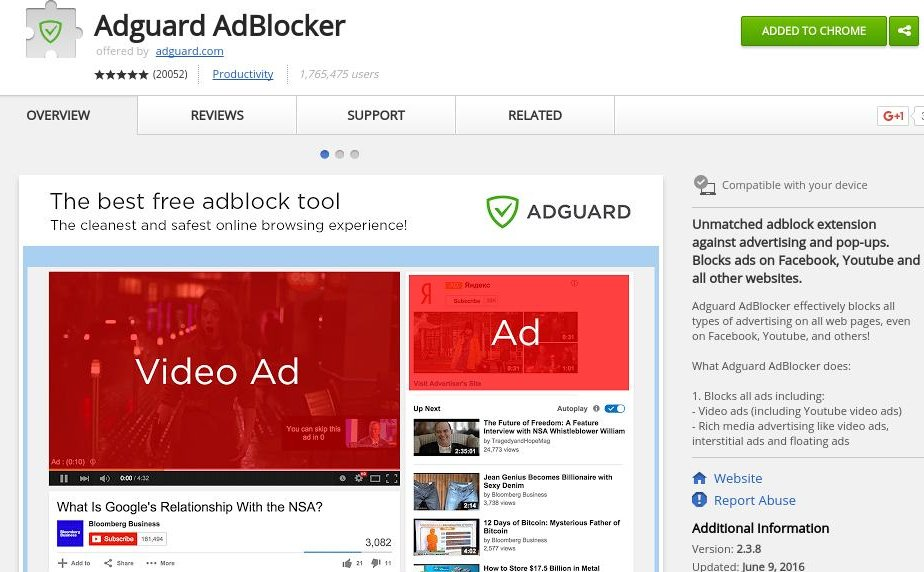 adblocker - video ad blocker - Best Google Chrome Extensions
