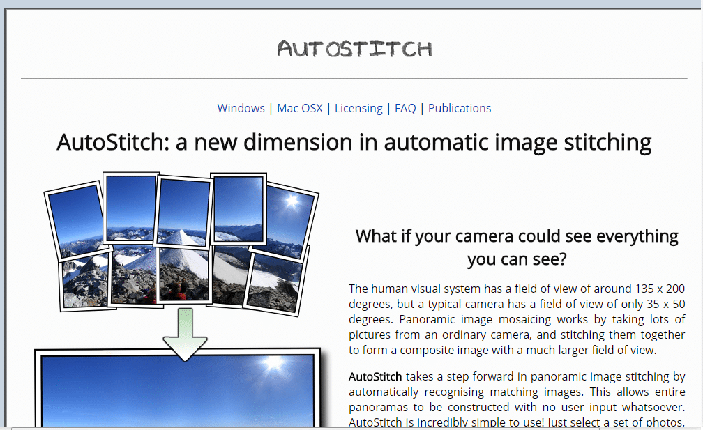 AutoStitch - Best Photo Stitching Software - Photo Stitch for Mac and Widows - Panorama Photo maker - Top 10 Best Photo Stitching Software for Panorama Photography