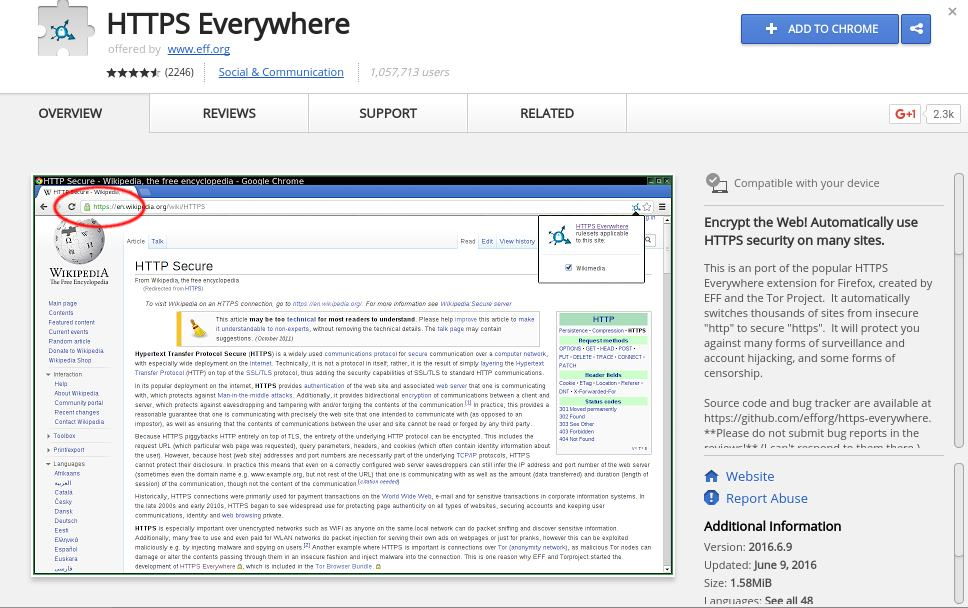 HTTPS everywhere - Best Chrome Extensions to Protect Privacy - Best Security Extensions for Chrome