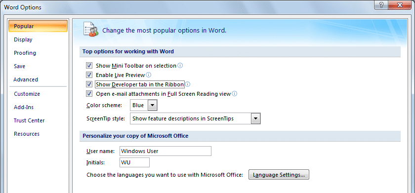 Word-options - Insert a checkbox in Word: How to Insert a Checkbox in Word Easily