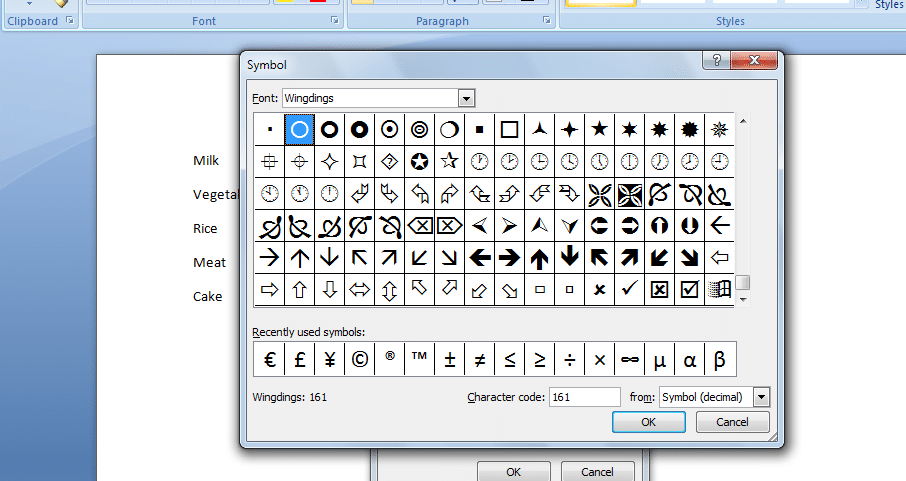 choose-wingdings - Insert a checkbox in Word: How to Insert a Checkbox in Word Easily