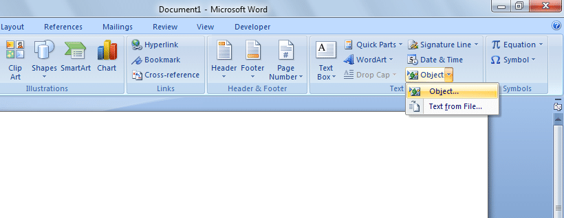 object - Insert PDF into Word: How to Insert a PDF into a Word Document?