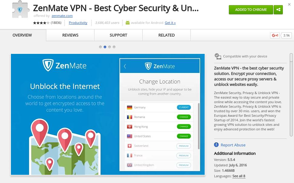 zenmate - chrome extension to protect privacy - Best Chrome Extensions to Protect Privacy - Best Security Extensions for Chrome