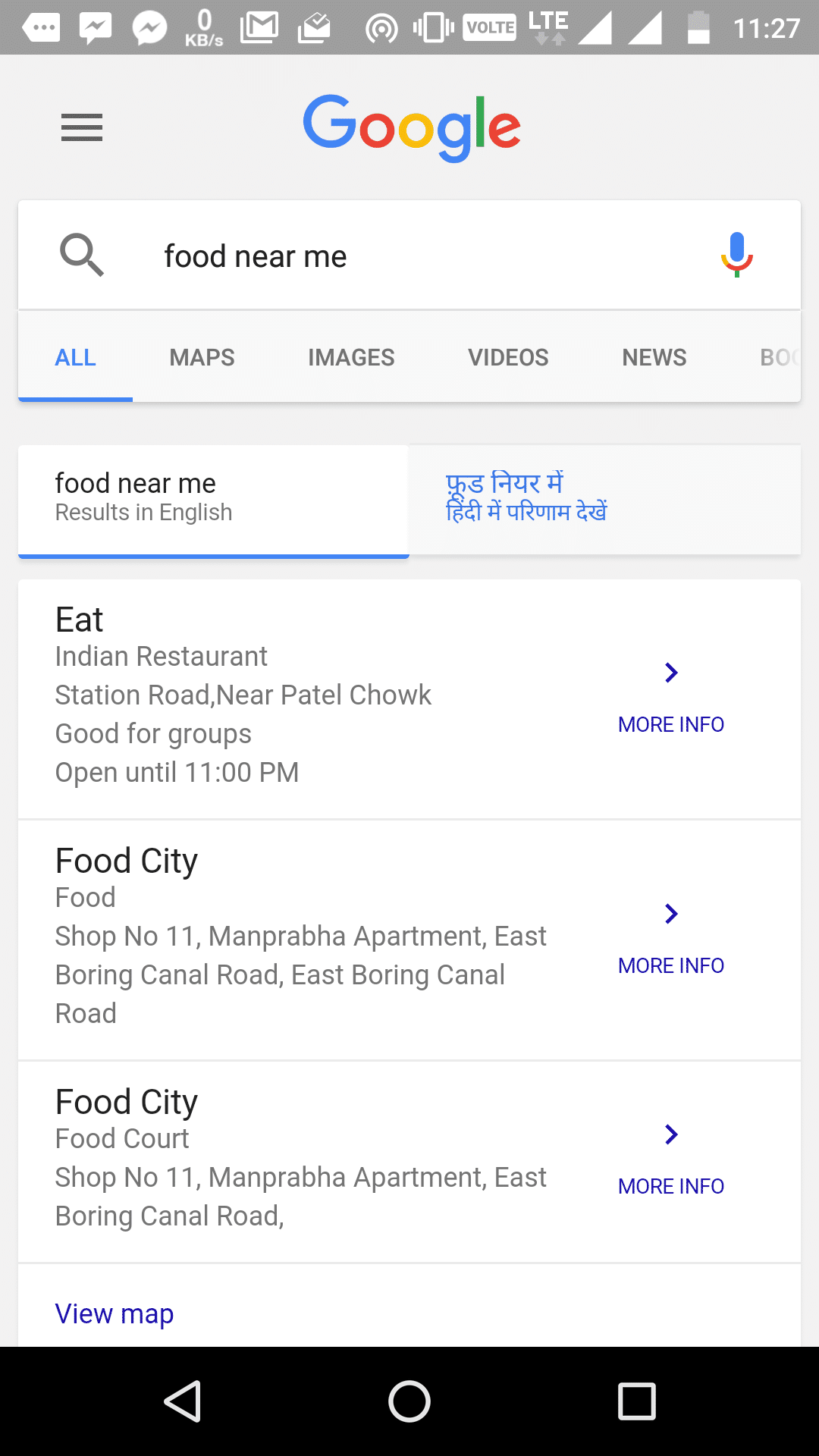 Google Search - Food Near Me - Find Restaurants for Chinese, Mexican, Thai, Fast Food Delivery Near Me
