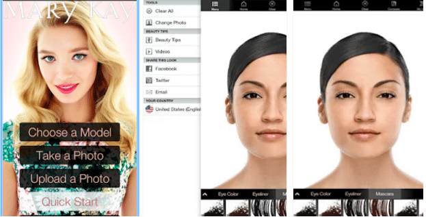 mary-kay-virtual-makeover - Top 7 Best Hair Styler App for Android to Try Different Hair Styles