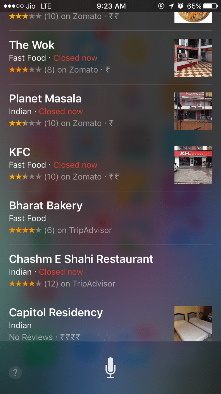 Siri - Food Near Me - Find Restaurants for Chinese, Mexican, Thai, Fast Food Delivery Near Me