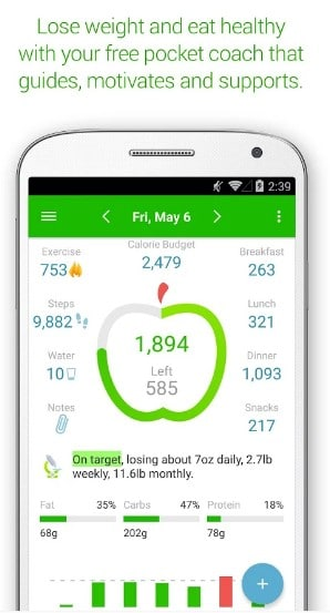 pro net diary - calorie counter apps - Top 7 Best Calorie Counter Apps for Android to Count Calories Everyday