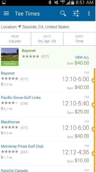 golf now - Best Golf Apps for Android - Best Golf GPS App for Android