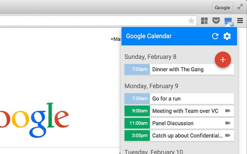 google-calendar - Best Chrome Extensions – Ultimate List of Best Extensions for Chrome Users
