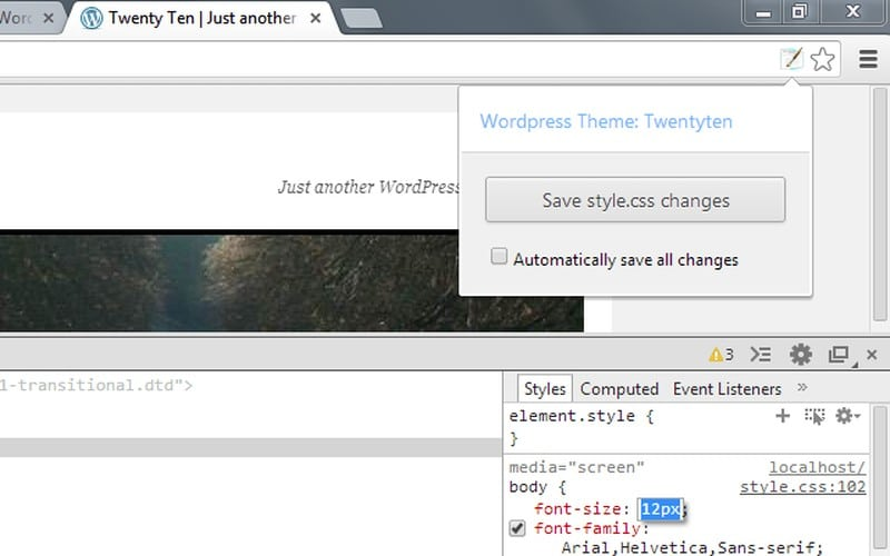 wordpress-style-editor - Best Chrome Extensions - Best Chrome Extensions for WordPress Users