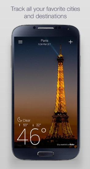 yahoo weather - best weather widgets for Android - Best Android Weather Apps - Best Weather Widgets for Android