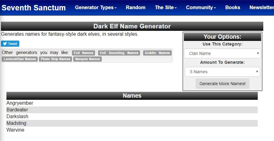 dark elf name generator - Best Skyrim Name Generators for Argonian, Dark Elf and Nord Names