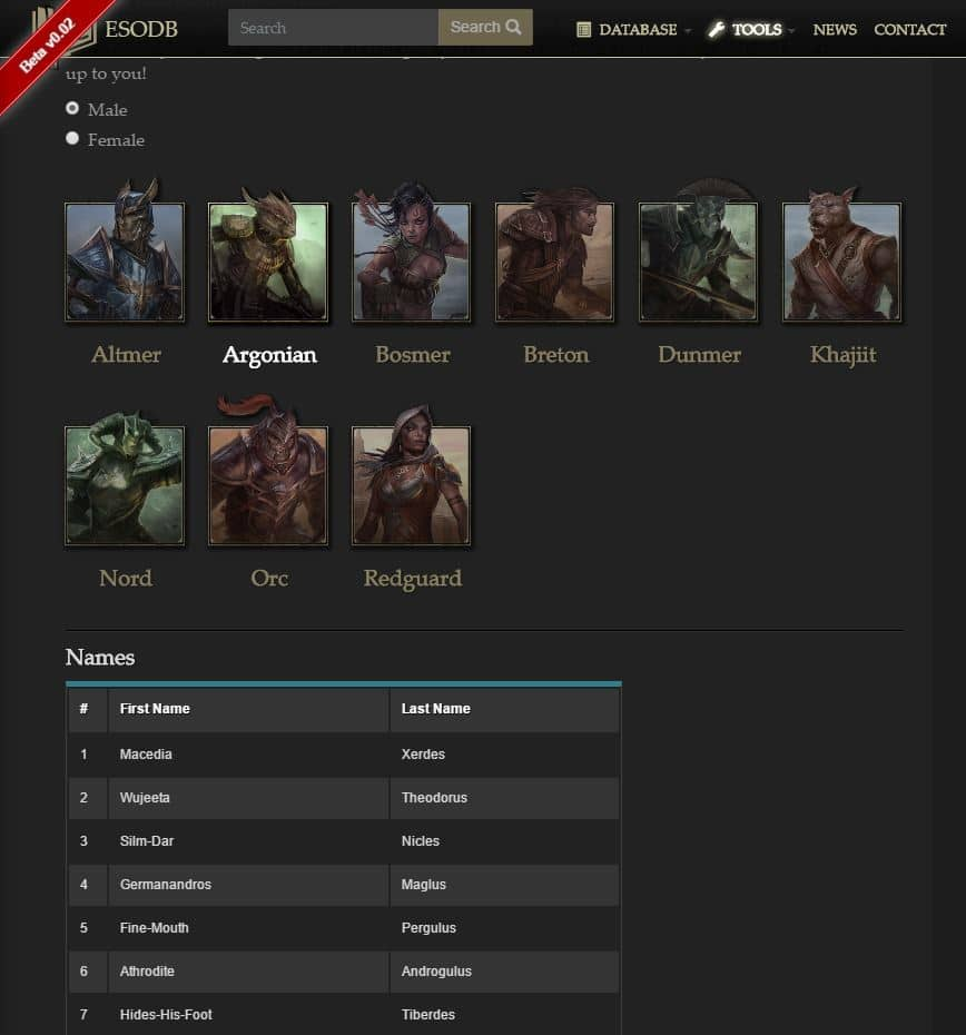 elder-scrolls-online-name-generator - Best Skyrim Name Generators for Argonian, Dark Elf and Nord Names