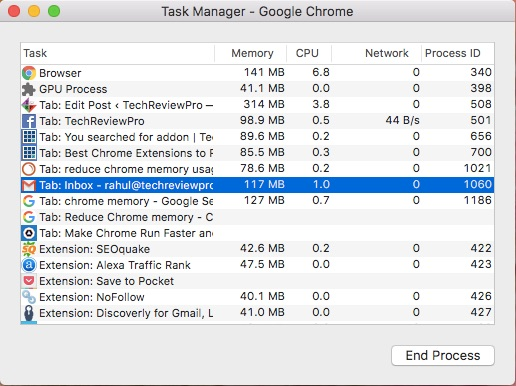 Free Up Space in Chrome from Task Manager to Reduce Chrome Memory Usage