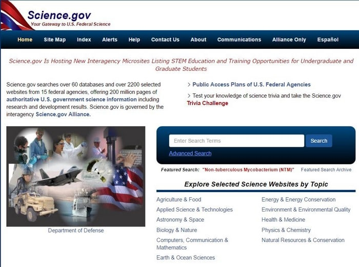 Science Gov Hidden Deeb Web search engine - Top 10 Best Deep Web Search Engines to Explore Hidden Web