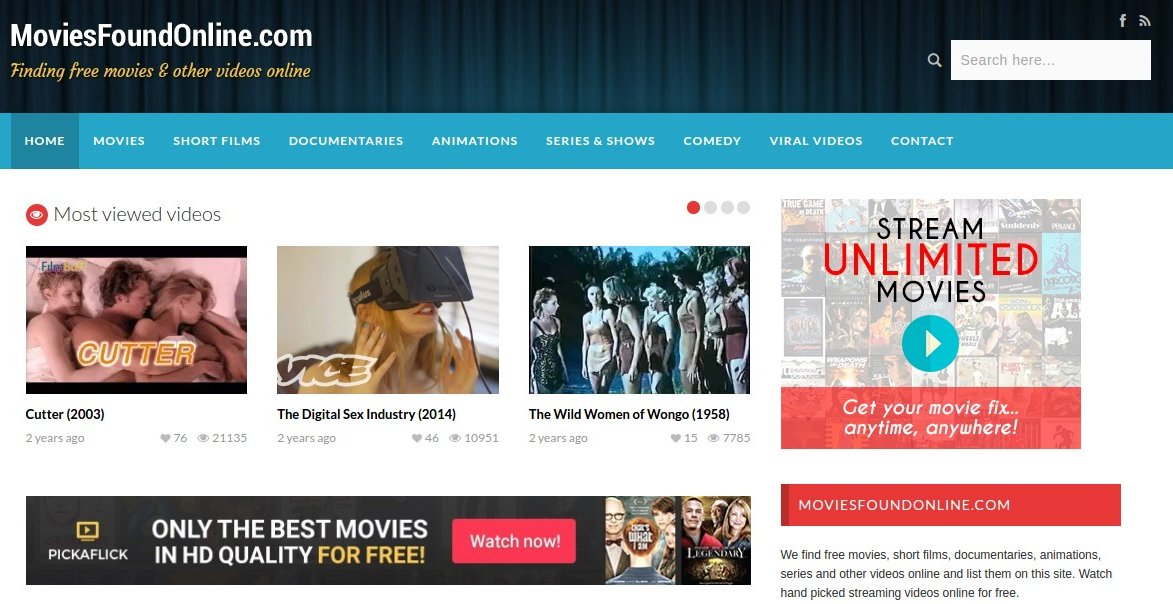 moviesfoundonline - Free Movie Sites - Top 10 Free Movie Sites to Legally Watch Full Length Movies Online Free